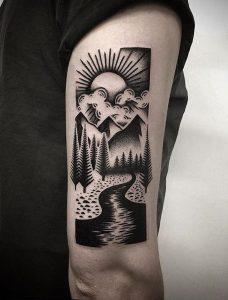 altri stili di tatuaggio: blackwork